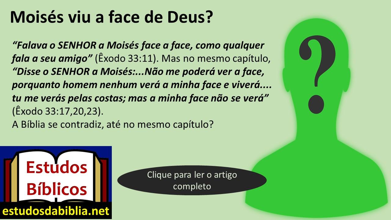 Moisés Viu A Face De Deus